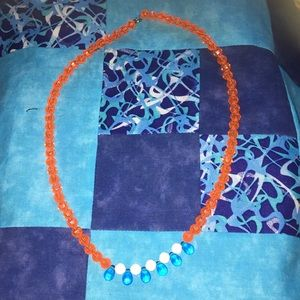Vintage Jewelry - Vintage Beaded Necklace with Single Clasp Hook